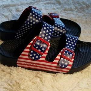Birkenstock Shoes - 😎 BIRKENSTOCK BIRKIS AMERICA FLAG SANDALS